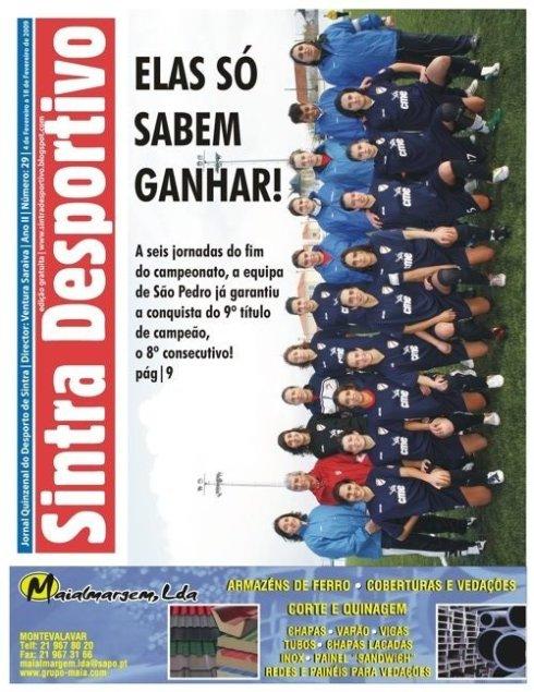 Capa do jornal Sintra Desportivo