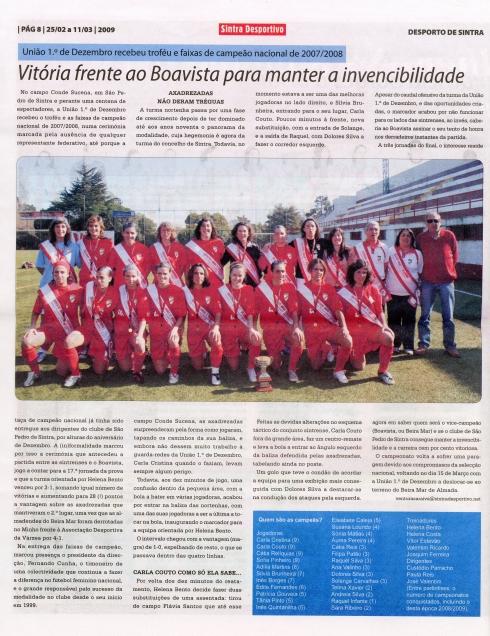 Reportagem Sintra Desportivo