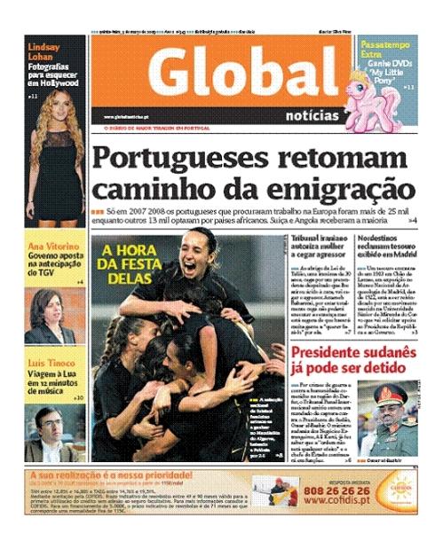 capa Global, 5 de Março de 2009