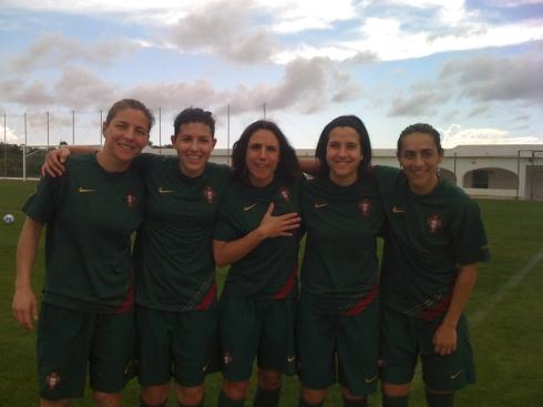 O nosso orgulho: Helga, Ana, Silvia, Dolores e Carla