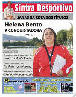 Capa do Sintra Desportivo nº 33, com grande destaque para a treinadora campeã, Helena Bento