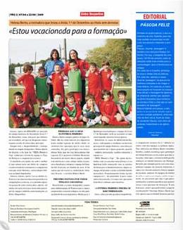 Interior do jornal com reportagem sobre Helena Bento, página 2