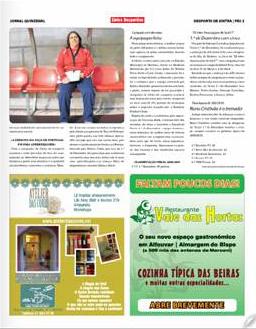 Interior do jornal com reportagem sobre Helena Bento, página 3