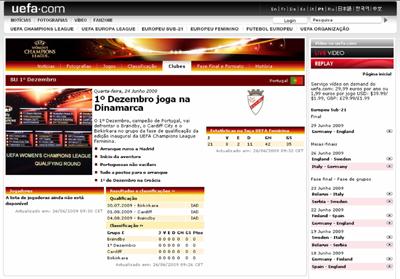 Página 1.º Dezembro no UEFA.com