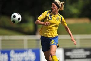 Sofia Jakobsson foi a melhor marcadora do Europeu Feminino de Sub-19 (© UEFA)