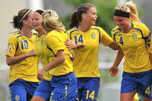Os festejos da Suécia (© UEFA)