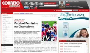 Site do Correio da Manhã, notícia de 25 de Julho, antecipando a reportagem do jornal