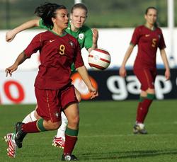 Sofia Vieira é um dos rostos do futuro do futebol feminino português (© FPF)