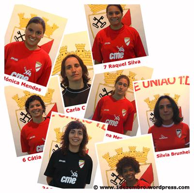 Algumas jogadoras do plantel 2009/2010