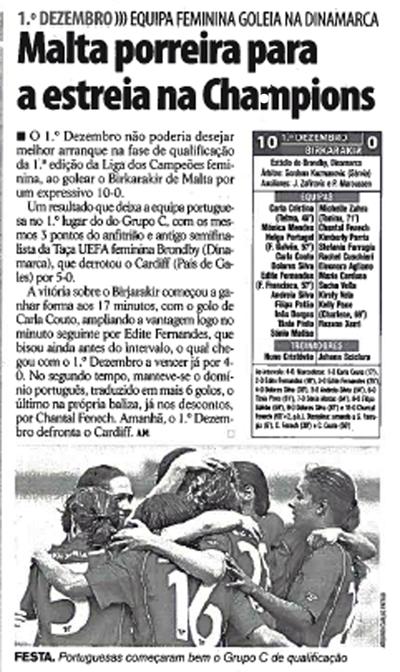 Notícia no Record, edição de 31 de Julho de 2009