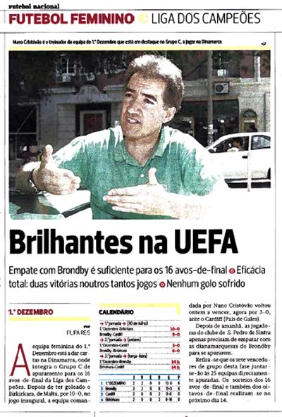 Notícia n'A Bola, edição de 2 de Agosto de 2009