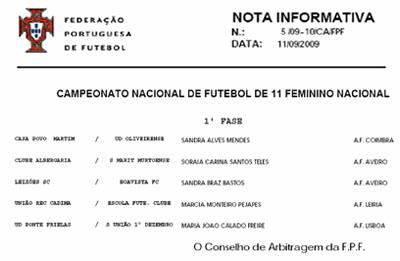 (Federação Portuguesa de Futebol)