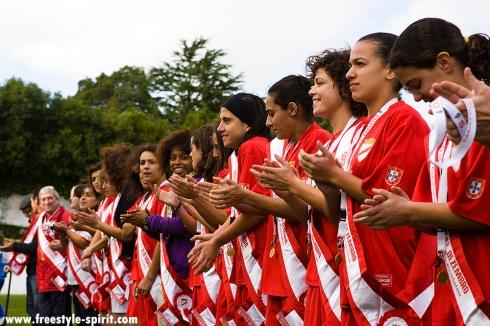 Entrega das faixas da época 08-09. jogo 1.º Dezembro vs UR Cadima